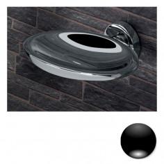 Colombo Serie Plus Porta sapone inamovibile cromo o nero