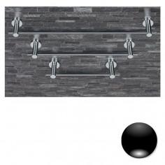 Colombo Serie Plus Porta salvietta da 33,5 cm cromo o nero
