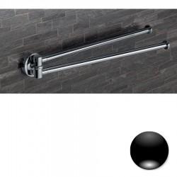Colombo Serie Plus Porta salvietta doppio a snodo cromo o nero