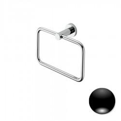 Colombo Serie Plus Porta salvietta ad anello cromo o nero