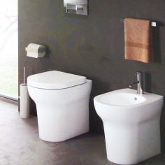 Cielo Jo Back to wall Toilet Pan with soft close seat and bidet