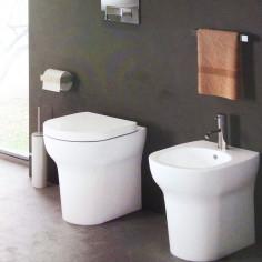 Sanitärkeramik mit Wandanschluss Cielo Jo WC, Bidet und Toilettensitz mit Slow Close Funktion