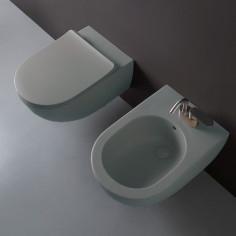Ceramica Flaminia App bianco opaco (LATTE) kit sospeso vaso Goclean, bidet e coprivaso rallentato slim