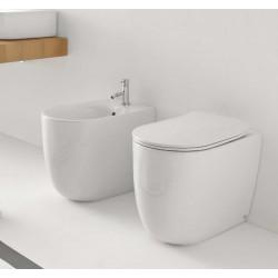 Sanitärkeramik mit Wandanschluss Kerasan Nolita WC Norim Bidet Toilettensitz slim Slow Close