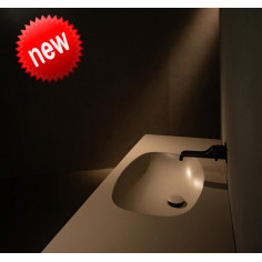 Flaminia Nudaflat 120 lavabo a consolle sospeso argilla