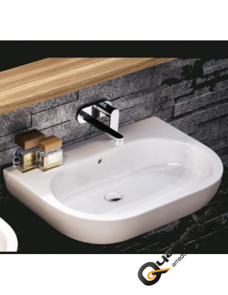 Flaminia Pass lavabo sospeso o da appoggio cm 62