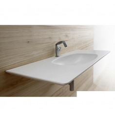 Flaminia Nudaflat 120 wall hung consolle MATT WHITE basin