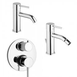 Paini Cox Open miscelatore lavabo e bidet e doccia incasso con deviatore