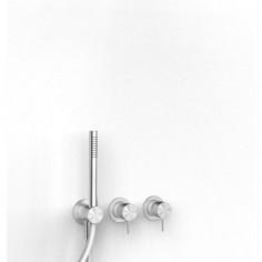Zazzeri Z316 miscelatore doccia ad incasso con deviatore e doccetta a 2 vie acciaio inox AISI316