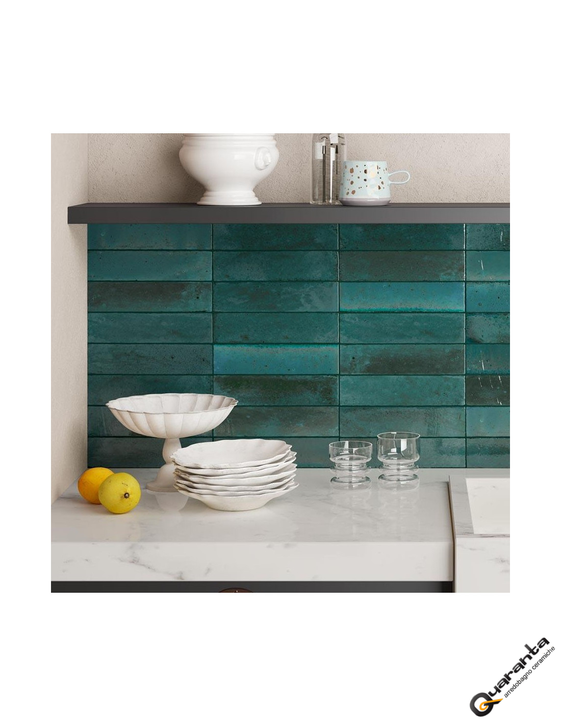 Marazzi Lume Blue 6x24 cm M6RR Casa39 Gres porcellanato