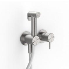 Zazzeri Z316 idroscopino ad incasso con doccetta igienica senza borchia acciaio inox AISI316