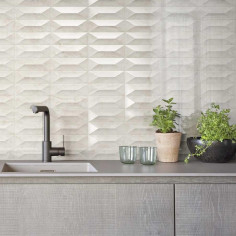 Marazzi Marbleplay Wall Calacatta Struttura Gem 3D 30x90