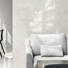 Marazzi Marbleplay Wall Statuarietto Struttura Mikado 3D 30x90