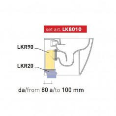 Kit per scarico pavimento da 80 a 100 mm LK8010