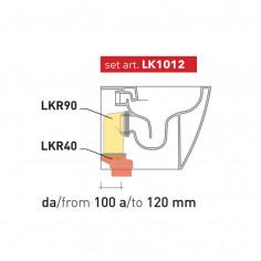 Kit per scarico pavimento da 100 a 120 mm LK1012