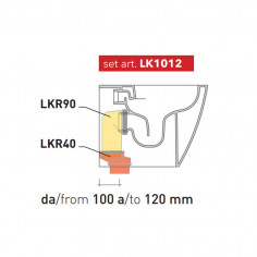 Waste Kit from 100 to 120 mm LK1012