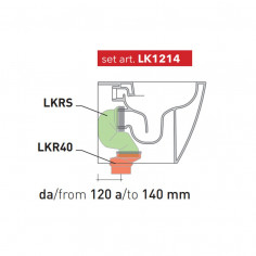 Waste kit from 120 to 140 mm LK1214