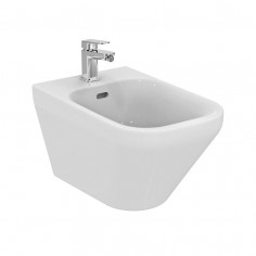 Ideal Standard Tonic II wall hung toilet pan Aquablade with soft close seat and bidet