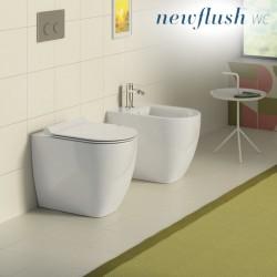 Sanitari Filo muro Catalano Sfera 54 vaso New flush, bidet e coprivaso rallentato