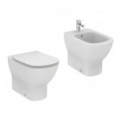 Sanitari filo muro Ideal Standard Tesi vaso AquaBlade bidet e coprivaso slim moderno