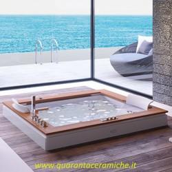 Jacuzzi Aura Plus Wood vasca idromassaggio modello BASE