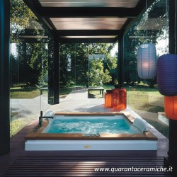 Jacuzzi Vasca idromassaggio Aura Plus Stone 180x150x66h modello Top