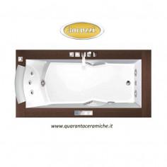 Jacuzzi Vasca idromassaggio Aura Uno Wood 180X90X66H Art. 9F43342 versione solo sinistra