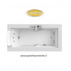 Jacuzzi Vasca idromassaggio Aura Uno Corian 185X95X66H solo versione sinistra art.9443734
