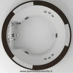 Jacuzzi Vasca idromassaggio Nova Wood Ø180x66h Aquasystem art. 9Q43540
