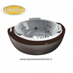 Jacuzzi Nova Corner Wood vasca idromassaggio con Aquasystem