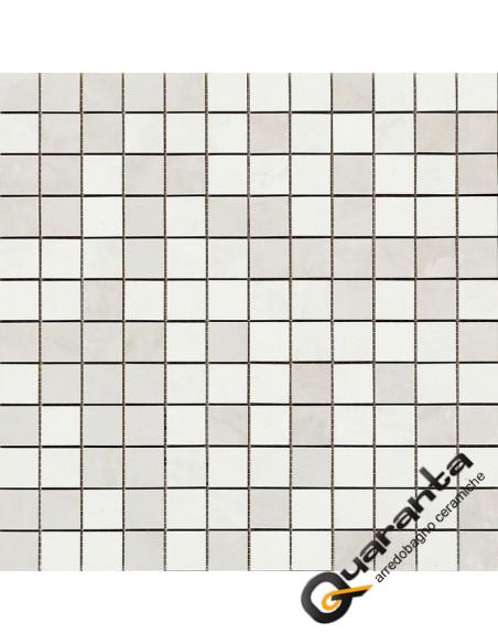 Marazzi Evolutionmarble mosaico white rhino 32.5x32.5