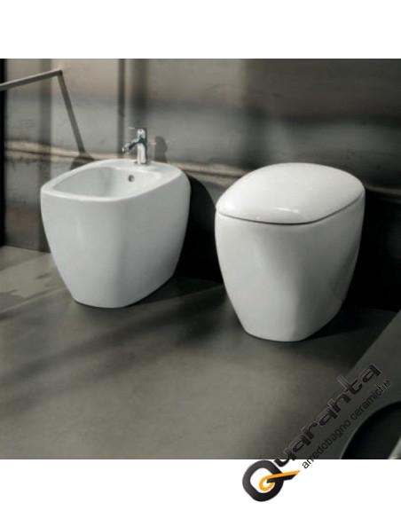 Pozzi Ginori Citterio filo muro-vaso senza brida-bidet- e coprivaso rallentato