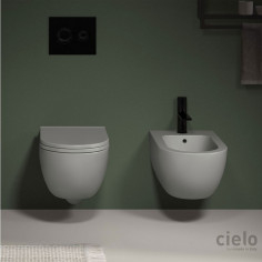 Cielo Enjoy wall hung toilet pan Keepclean, bidet and soft close seat