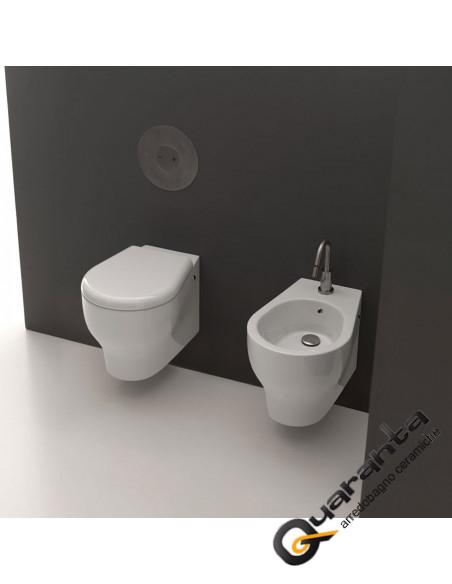 Kerasan serie K09 sospesa vaso bidet e coprivaso design