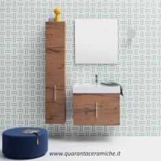 Arbi Home mobile bagno legno nodi L70xP45 cm