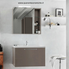 Arbi Home mobile bagno finitura canapa opaco L80xP45 cm