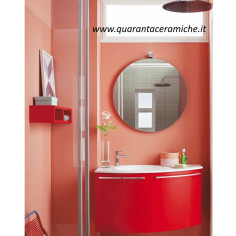 Arbi Home mobile bagno finitura fragola opaco L90xP50 cm