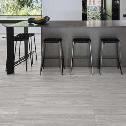 Marazzi Marbleplay Travertino Grigio Lucido 58x116