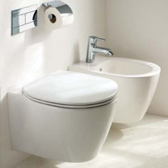 Ideal Standard Connect Space vaso sospeso, bidet e coprivaso rallentato