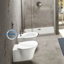 Ideal Standard Connect Air wall hung toilet pan Aquablade with soft close seat and bidet