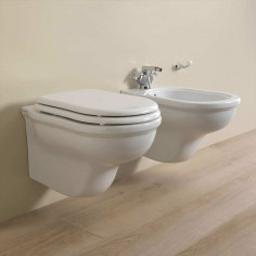 Flaminia Efi wall hung toilet pan with seat and bidet