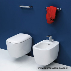 Flaminia Monò wall hung toilet pan with soft close seat and bidet