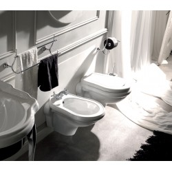 Kerasan Retrò wall hung toilet pan with seat and bidet