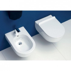 Flaminia MiniApp wall hung Goclean toilet pan with soft close slim seat and bidet