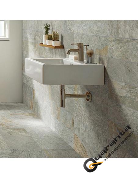 Marazzi-multiquartz-gray 30x60 effetto pietra da interno