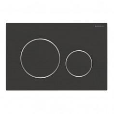 Placca di comando Geberit Sigma 20 nero opaco/cromato/nero opaco con trattamento antimpronta