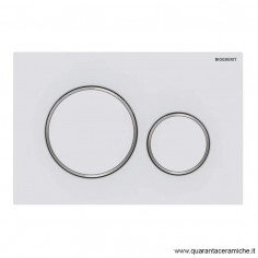 Flush plate Geberit Sigma 20 White/Chrome/White