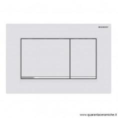 Placca di comando Geberit Sigma 30 bianco opaco/cromato/bianco opaco con trattamento antimpronta