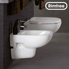 Pozzi Ginori Wall Hung toilet rimfree, bidet and soft close seat