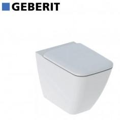 Geberit iCon Square vaso filo muro rimfree e coprivaso rallentato